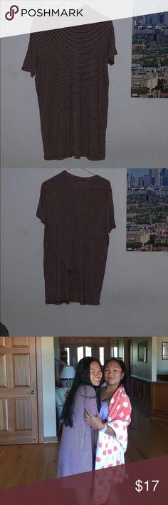 Brandy Melville T-shirt maroon dress Very cute but used Brandy Melville Dresses