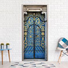 Tapeta na drzwi z orientalnym wzorem
