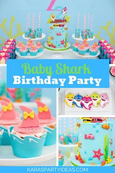 Baby Shark Birthday Party via Kara's Party Ideas - KarasPartyIdeas.com