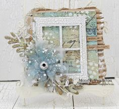 Mona Pendleton ~ Tattered Floral die http://cupcakescreations.blogspot.com/2014/03/embrace-imperfection.html