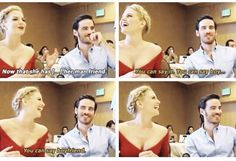 Colin & Jen they would make the CUTEST COUPLE EVER!!! If he wasnt married lol but yay captain swan!