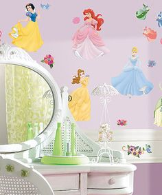 Little royalty can decorate their room with these whimsical wall decals. They're completely removable and reusable, so they can be repositioned in any princess themed room again and again without damaging the walls.