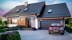 proiecte case ieftine Garage Doors, Houses, Urban, Interior, Outdoor Decor, Modern, Design, Home Decor, Homes