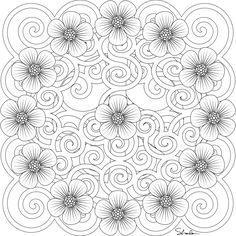 free Printable Flower Image - this image has great detail and would look nice painted or colored (pencils etc.) with a clear crackle and antique glaze over the top or Transferred (using gel medium) onto a painted or decoupaged canvas.