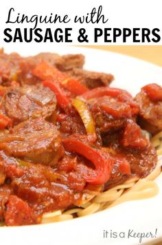 This Linguine is pure comfort food!  The flavor is over the top!  recipe at www.itisakeeper.com