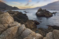 Sunset at the edge of the continent, at Garrapata State Park...