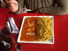 Carapulcra con sopa seca Chinchana, Restaurant Mamaine, El Carmen, Chincha