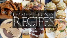 The excitement for the premiere of Game of Thrones sixth season is palpable in the Starving Chef's household. Game Of Thrones Food, Game Of Thrones Party, Chef Recipes, Dinner Recipes, Drink Recipes, Tavern And Table, Got Party, Dinner Themes, Roasted Chicken