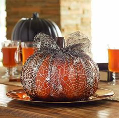 Michaels.com Tulle wrapped pumpkin