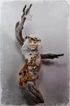 Coyote Song  Spirit Doll  Assemblage Doll by wildlywhimsical, $40.00