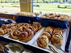 Fresh baked pastries are one of many options available during the Sunday Brunch Buffet at Fortunes Restaurant.