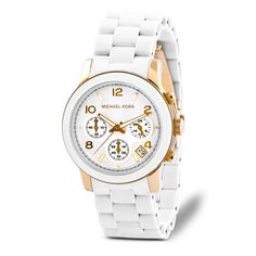 biały zegarek Michael Kors