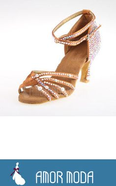 Wedding Party With Rhinestone Ankle Strap Dance Shoes  at an affordable price of $36.99 #wedding