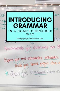 Looking for ways to teach Spanish grammar in a more comprehensible way? You can do this by making small changes to your traditional classroom! I have gathered my favorite strategies here for you, as I love teaching using comprehensible input, but I also love grammar! I hope you can find some ideas to help you and your students. Click through to learn more! Spanish Grammar, Spanish Teacher, Spanish Classroom, Spanish Alphabet, Vocabulary Activities, Spanish Activities, Listening Activities, Preschool Worksheets, Preschool Crafts