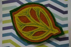The Autumn Leaf Felt Brooch 100% wool felt hand by Lollygoat