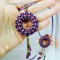 "Accesorios hechos a mano (@mirighandmade) on Instagram: ""#Colgante #Scheherezade #pendant #cuero #chillibeads #miyukibead #beads #beading #perline #perles…"""