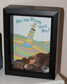 I haven't figured out what to do with all our smashed pennys! What a great idea - Smashed Penny Shadow Box
