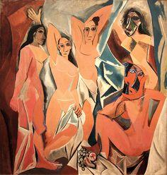 Autore: Pablo Picasso; Titolo: Les Demoiselles d'Avignon; Data: 1907; Tecnica: olio su tela; Luogo: Museum of Modern Arts, New York