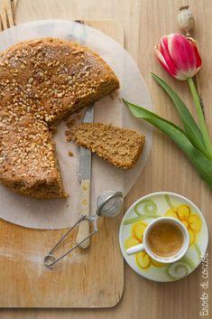 Torta nuvola al caffè (con soli albumi) Fit, Pancakes, Breakfast, Desserts, Muffin, Birthday, Health, Morning Coffee, Tailgate Desserts