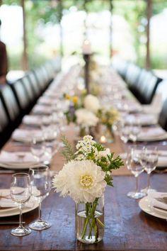 Rustic Reception Decor / Sam & Liam's Rustic Garden Wedding (instagram: the_lane)