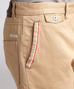 Eight Penny Nails : khaki selvedge chino pants : style # 319467401
