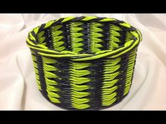How to weave Goose foot pattern basket.