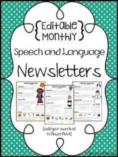 Looking for an easier way to send out newsletters each month? Don't reinvent the wheel! Use these newsletters to save yourself some time! Important Note: YOU WILL NEED POWERPOINT TO USE AND EDIT THIS FILE.This is a growing bundle! As I add newsletters throughout the year, you will get the updates for free.