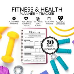 Fitness Planner, Health Planner |  Personal Trainer, Nutritionist, Weight Loss Tracker, Meal Planner, Habit Tracker, Workout tracker, Health by DesignerJaim on Etsy Health Planner, Fitness Planner, Nutrition Plans, Fitness Nutrition, Personal Trainer Website, Health Challenge, Calories, Happy Planner, Videos