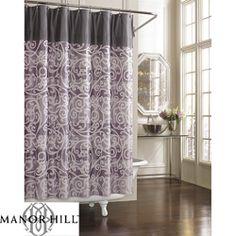 Cosmopolitan Dark Brown Leather Counter Stools  Set of 2  Purple Shower  CurtainsBathroom  Kardashian Kollection Home  Spanish Harlem Purple Shower Curtain  . Grey And Purple Shower Curtain. Home Design Ideas