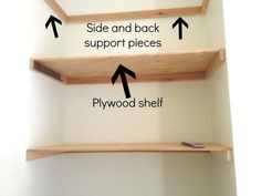 6 Innovative Tricks: Ikea Floating Shelves With Lights floating shelf design ideas.Floating Shelves Hallway Bathroom large floating shelf above couch.How To Decorate Floating Shelves In Kitchen. Diy Storage, Storage Shelves, Wall Shelves, Glass Shelves, Shelves Behind Toilet, Corner Shelves, Diy Shelving, Shelf Display, Shelves In Closet Diy