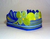 cool example for 5th grade coil pots.  love the paisley design