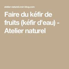 Faire du kéfir de fruits (kéfir d'eau) - Atelier naturel