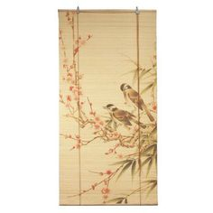 Love Birds Bamboo Blinds - OrientalFurniture.com
