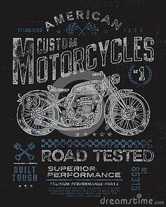Graphique de T-shirt de moto de vintage