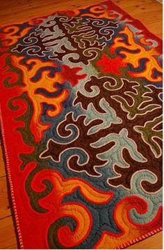 wet felting rugs | Found on theidesignbox.com
