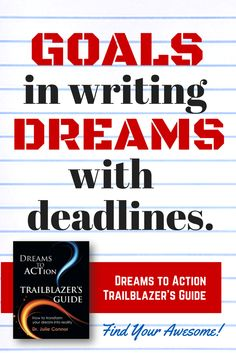 "Transform your dream into reality. Start today with ""Dreams to Action Trailblazer's Guide,"" http://www.amazon.com/Dreams-Action-Trailblazers-Guide-Connor/dp/0991487206"
