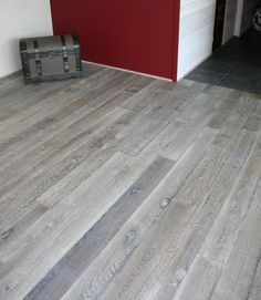 gray wood flooring  | Old Grey / Reclaimed engineered floor / Hand-made wood floors