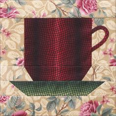 Coffee Cup   By Becky Brown   A fondu or rainbow print is always good    for getting a dimensional look,   a lesson from Baltimore Alb...