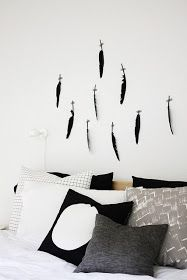 black and white. #feathers