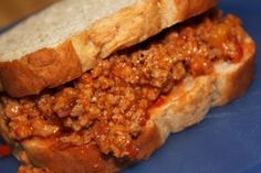 Homemade Low Sodium Sloppy Joes - Were parents!?