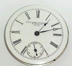 Antique-vintage-New-York-standard-34mm-mechanical-pocket-watch-movement-398