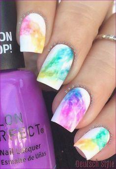 Rainbow Nail Art Designs, Cute Easy Nail Designs, Cute Acrylic Nail Designs, Short Nail Designs, Nail Designs Spring, Best Acrylic Nails, Teal Nail Designs, Fingernail Designs, Spring Design