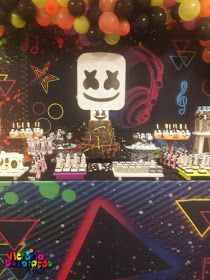 Dj Marshmello Arthur 7 Anos In 2020 Birthday Party Birthday Cake