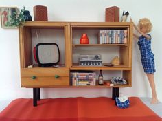 Miniatuur meubilair voor Barbie of Blythe, schaal 1:6, Design, handgemaakt, Vintage stijl