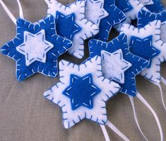 10 blue felt Star of David decorations, Hanukkah ornaments, Chanukah blue and white decor, Jewish – Hanukkah Jewish Hanukkah, Hanukkah Crafts, Jewish Crafts, Hanukkah Decorations, Felt Decorations, Jewish Christmas, Felt Christmas, Christmas Crafts, Christmas Store