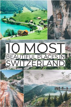 10 Most Beautiful Places in Switzerland Switzerland travel! If you are on the hunt for the most beautiful places in Switzerland to add your Switzerland travel itinerary, Lucerne should be at the top of your bucket list! Do you agree? Find out why we think Switzerland Itinerary, Switzerland Cities, Switzerland Vacation, Switzerland Summer, Lucerne Switzerland, Best Places In Switzerland, Switzerland Destinations, Grindelwald Switzerland, Cool Places To Visit
