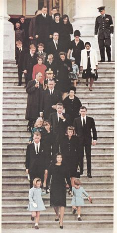 "american-nostalgia: "" Mr. Kennedy's family (and few others) leaving the Capitol after viewing him lying in state. President Kennedy was buried at Arlington National Cemetery on Nov. 25, 1963. """
