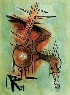 Beautiful Thorn, by Wilfredo Lam
