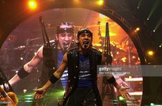 A.J. McLean of the Backstreet Boys performs with the group at the Continental Airlines Arena in East Rutherford, N.J.