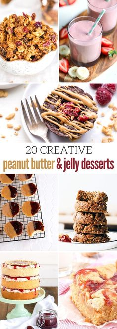 20 Creative Peanut Butter and Jelly Desserts Worth Checking Out http://daysofadomesticdad.com/peanut-butter-and-jelly-desserts/